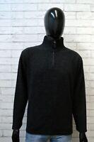 Maglione Uomo Trussardi Taglia L Cardigan Pullover Nero Maglia Felpa Sweater Man