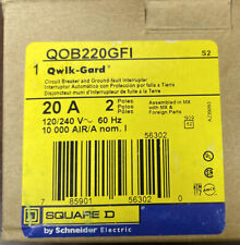 Qob220Gfi - Square D 20 Amp Double Pole Gfci Bolt-On Circuit Breaker