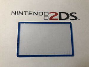 Nintendo 2DS Screen Cover LCD Lens Clear Part New Fit Great ! Blue