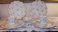 Taste Setter Sigma Scalloped Edge Rose Pattern 10pc Tea Dessert Set  EUC!
