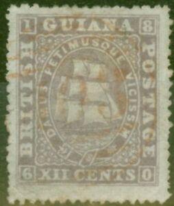 British Guiana 1875 12c Lilac SG113 P.15 Fine Used Ex-Fred Small