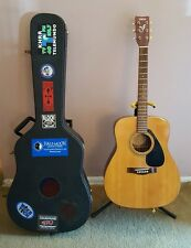 Yamaha FG-300A Acoustic 6 String Guitar Full SIze w/ Hardcase, Stand & Extras