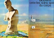 PUBLICITE ADVERTISING 015  1973  BIOTHERM   soins pour le corps ( 2 pages)