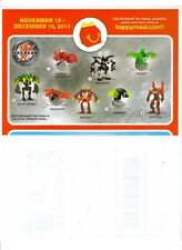 "MCDONALD 'S HAPPY MEAL  2011 ""THE BAKUGAN MECHTANIUM"" - COMPLETE SET"