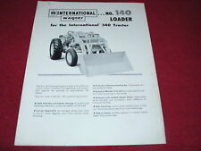 International Harvester Wagner No.140 Loader for 340 Tractor Dealer's Brochure