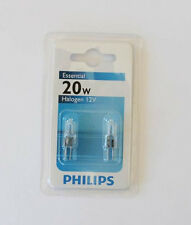 Double Pack 20W Philips G4 Clear Halogen Dimmable Lamp Light Wedge Globe 12V CL
