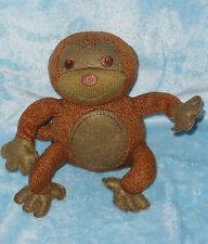 "Starbucks Coffee Plush Brown Monkey Stuffed Animal Soft Toy 7"""
