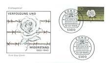 Germany 1983 FDC 1163a War Blumen Flowers Rose
