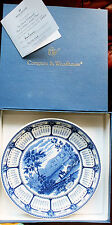 Wedgwood Blue & White Millenium Calendar Plate from Compton & Woodhouse boxed