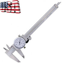Dial Caliper 0-6 Inch Double Shock Proof Stainless Steel Body SAE Measuring New