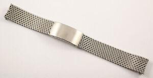 18mm Heavy Mesh Watch Bracelet, Swiss Made - Would Suit Rolex, Heuer, Omega etc.