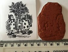 Card Men Alice In Wonderland Rubber Stamp Mounted On Cling Foam. NEW.