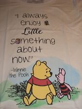 4XL Winnie The Pooh & Piglet ~ Enjoy Something About Now ~ Disney Tee Shirt NWT
