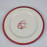Single Red Beach Umbrella Ralph Lauren 1997 Vineyard Salad Plate EUC