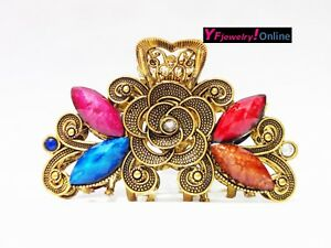 Vintage New Arrival Hair Claw Clip Crystal Beautiful Flower SKU#102277