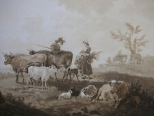 M. C. PRESTEL ´GROSSE LANDSCHAFT NACH S. DE ROYE´ AQUATINTA, LONDON, N. 63, 1789