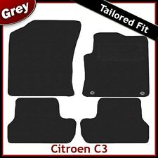 Citroen C3 (2010 2011 2012) Tailored Carpet Car Mats GREY