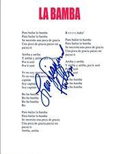 """Lou Diamond Phillips Signed Autograph """"La Bamba"""" Song Lyric Sheet COA VD"""