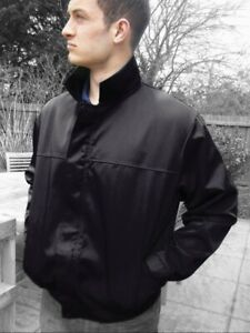 BLACK  BOMBER JACKET Zip Front Drivers Work Jacket - British Made  JK87