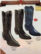 Los Altos Men's Snip Toe Leather Exotic Stingray Cowboy Western Boots