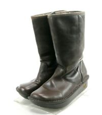 Alegria Women's Leather Boots Shearling Lined Size EU 37 US 7-7.5 Brown
