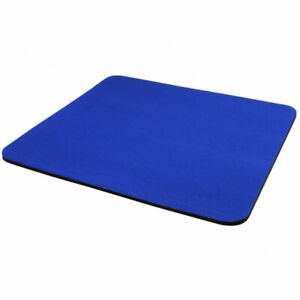 6MM PLAIN BLUE FABRIC MOUSE MAT FOAM BACK PC DESKTOP COMPUTER LAPTOP MOUSE PAD