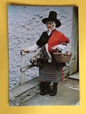 THE WELSH COSTUME OF A SPINNER 19th CENTURY BRECONSHIRE POSTCARD