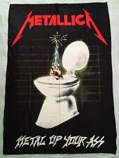 METALLICA - Metal up your ass FLAG Heavy thrash death METAL cloth poster