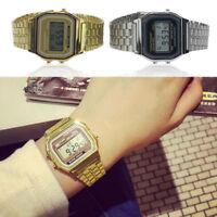 A159W Elegant Men Women Retro LCD Digital Sports Stopwatch Watch