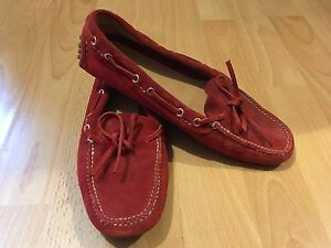 The Original Car Shoe Red Driving Loafers/Flats Size 5