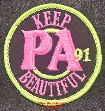 LMH PATCH Badge 1991 KEEP PENNSYLVANIA BEAUTIFUL Campaign Movement Cleanup Trash