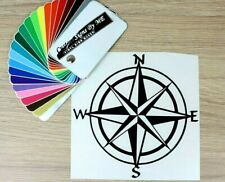 Compass Navigation Map Car Sticker Vinyl Decal Adhesive Wall Laptop Trailer BLA