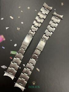 Rolex Vintage Mens Oyster Rivet 7205 19mm Steel Band 57 Ends Ref:1500 6694 (LOT)