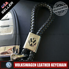 VW Car Logo Emblem Key Chain Metal Alloy Leather Gift Decoration Accessories