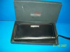 Tumi Leather Zip Passport Document Wristlet Black Travel Wallet NOS Sloane w Box