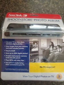 New In Box SanDisk Shoot and Store Photo Album for Digital Photos & Video Clips