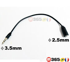 Câble adaptateur audio stéréo jack 3,5 mm mâle vers jack 2,5 mm femelle
