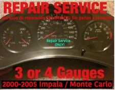 2004 GM Impala Monte Carlo 3 or 4 Instrument Gauge Cluster REPAIR SERVICE 04 05