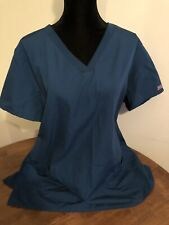 Cherokee Plus 2X Teal Green Scrub Top Short Sleeve
