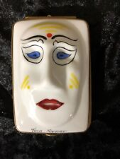 Dubarry France Limoges Lmt Edition #25 Masks Trinket Box - Tina Turner