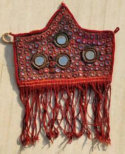 HANDMADE MIRROR EMBROIDERY OLD TRIBAL ETHNIC WALL HANGING/PATCH DECOR TAPESTRY