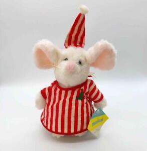 "Vintage Eden Toys 9"" Musical Christmas Mouse Plush Music Box Deck the Halls 1984"