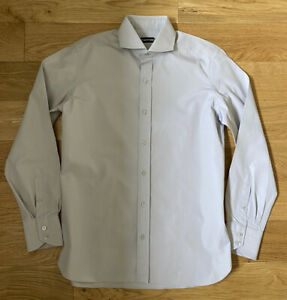 """Tom Ford Formal Lilac Shirt 16"""" 41cm Slim Tailored Fit Rrp £325"""