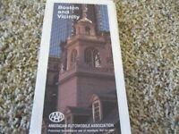 Vintage 1993 AAA Map BOSTON AND VICINITY American Automobile Assn NEW