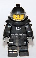 Custom EOD Bomb Squad Explosive Specialist minifigure with Genuine Lego® Parts