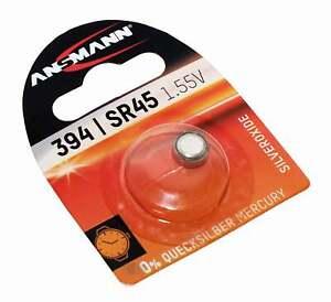 Ansmann 394 SR45 Knopfzelle Batterie Silberoxid für Uhren u.a. | AG9 625 394A |