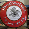 "Large 17''X17"" Budweiser in Bottles Dome Metal Sign - Anheuser Busch - Beer U.S"