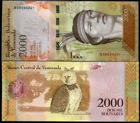 VENEZUELA 2000 2,000 BOLIVARES 2016 P 96 UNC