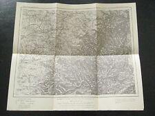 alte Landkarte Karte des Deutschen Reiches Nr.601 Saarburg Lothringen von 1908
