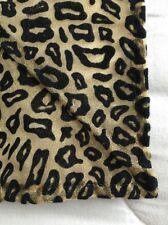 Cheetah Stiff Fabric Tablecloth Coverlet Gold Black Velvet Golden Threads